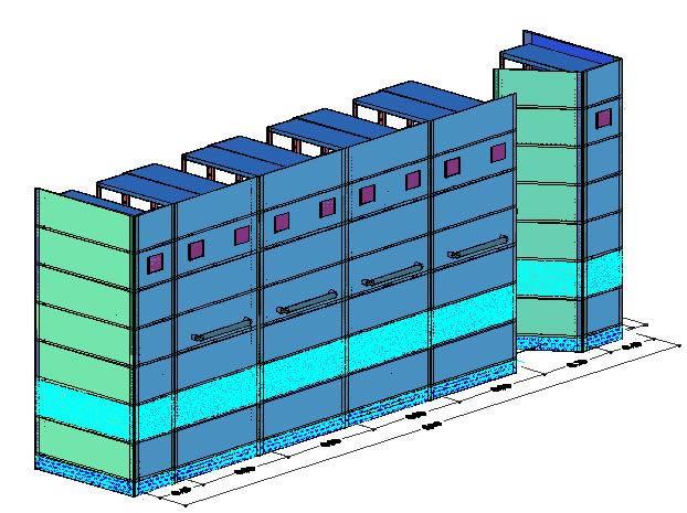 Planos de Archivo  rodante manual para folder colgante, en Estanterías y modulares – Muebles equipamiento
