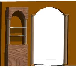 Planos de Arco de escayola para salon, en Puertas 3d – Aberturas