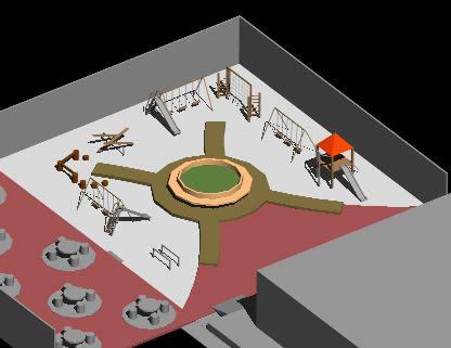 imagen Area recreativa de centro escolar, en Equipamiento - Parques paseos y jardines