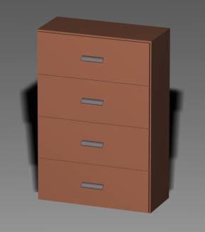 Armario 02_09 4 cajones ancho, en Estanterías y modulares – Muebles equipamiento