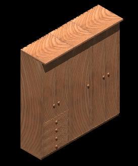imagen Armario 3d con materiales aplicados, en Dormitorios - Muebles equipamiento