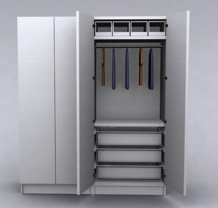 Armario 3d, en Dormitorios – Muebles equipamiento