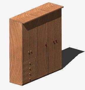Armario 3d, en Estanterías y modulares – Muebles equipamiento
