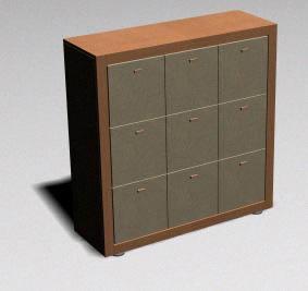 Armario 3d  – materiales aplicados, en Estanterías y modulares – Muebles equipamiento