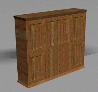 Armario 3d  – materiales aplicados, en Oficinas y laboratorios – Muebles equipamiento