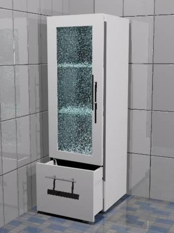 Armario de baño de 38x116x35 cm., en Baños - Muebles ...