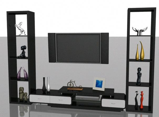 Armario en 3d – 02, en Estanterías y modulares – Muebles equipamiento