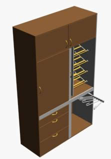 Armario, en Dormitorios – Muebles equipamiento