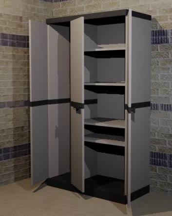 Armario multiusos pvc de 170x98x45 cm., en Estanterías y modulares – Muebles equipamiento