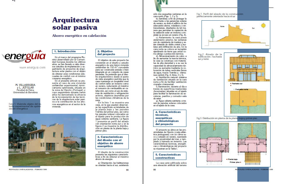 Arquitectura solar pasiva, en Monografías – Historia