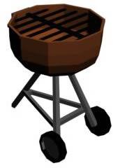 Asador movil 3d – barbacoa, en Quinchos – churrasquerías – cocinas alternativas – Parques paseos y jardines