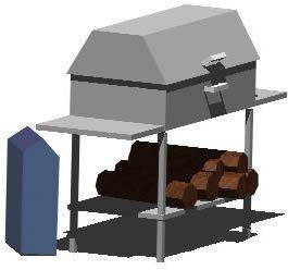 Planos de Asador portatil 3d, en Quinchos – churrasquerías – cocinas alternativas – Parques paseos y jardines