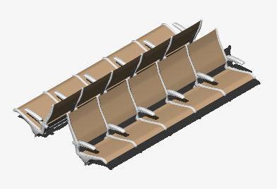Planos de Asientos multiples, en Butacas – Muebles equipamiento