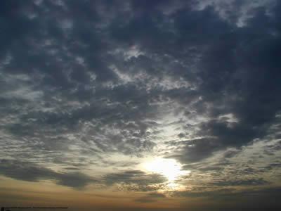 imagen Atardecer en mar, en Cielos - Objetos paisajísticos