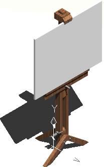 imagen Atril para pintor 3d, en Muebles varios - Muebles equipamiento