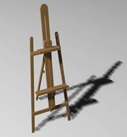 Atril para pintor 3d, en Objetos varios – Muebles equipamiento