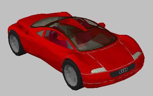 imagen Audi 3d - automavil, en Automóviles en 3d - Medios de transporte