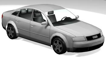 Audi a6 muy detallado – 3d, en Automóviles en 3d – Medios de transporte