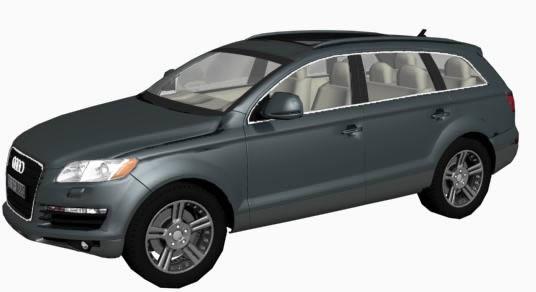 Audi q7. 3d, en Automóviles en 3d – Medios de transporte