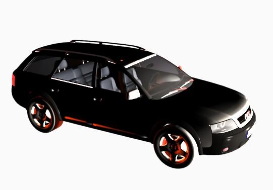 Audi todo terreno, en Automóviles en 3d – Medios de transporte