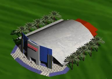 Planos de Auditorio 3d, en Auditorios cines – Proyectos
