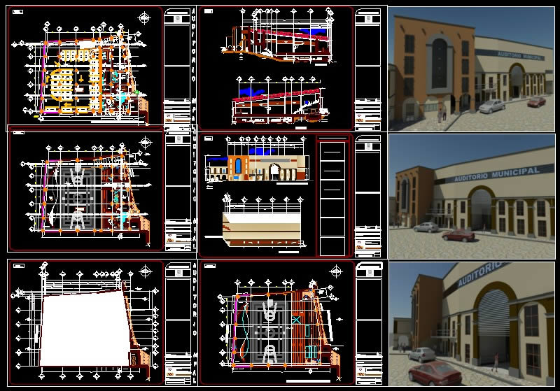 imagen Auditorio estadio multicancha, en Auditorios cines - Proyectos