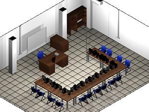 Planos de Aula de formacion – modelo 3d -, en Educación – Muebles equipamiento