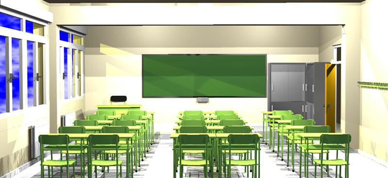Planos de Aulade la e.s.o., en Educación – Muebles equipamiento