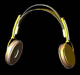 Planos de Auriculares 3d, en Instrumentos musicales – Muebles equipamiento
