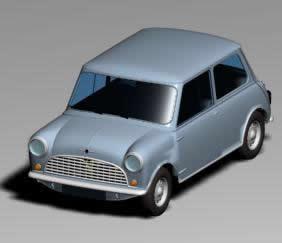 Austin mini 3d, en Automóviles en 3d – Medios de transporte