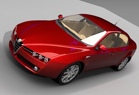 Auto alfaromeo, en Automóviles en 3d – Medios de transporte