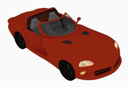 imagen Auto dodge 3d, en Automóviles en 3d - Medios de transporte