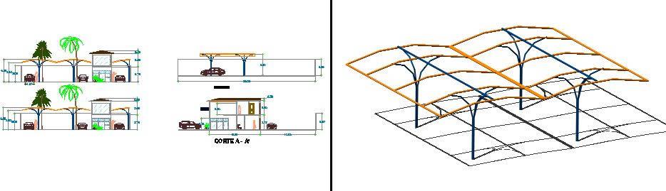 Planos de Autobaño, en Estructuras de acero – Detalles constructivos