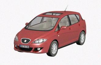 Automovil  3d – seat toledo, en Automóviles en 3d – Medios de transporte