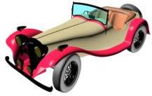Automovil antiguo 3d, en Automóviles en 3d – Medios de transporte