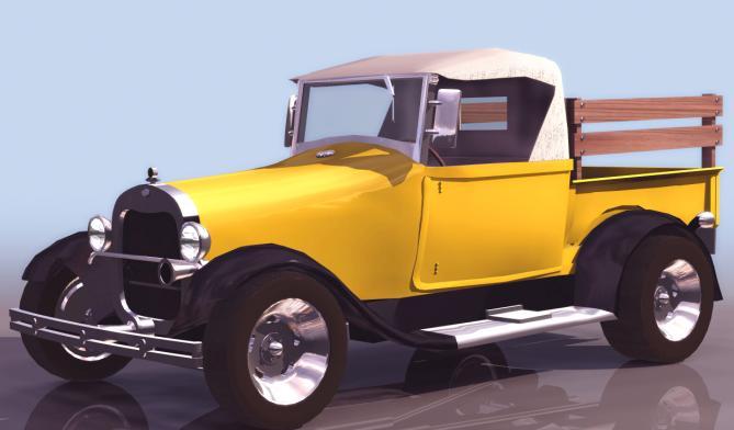 Automovil antiguo en 3d ~, en Automóviles en 3d – Medios de transporte