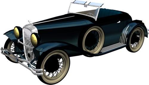 Automóvil antiguo, en Automóviles en 3d – Medios de transporte
