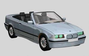 Automovil bmw descapotable 3d, en Automóviles en 3d – Medios de transporte