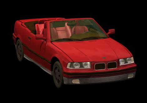 Automovil bmw serie 3 cabriolet, en Automóviles en 3d – Medios de transporte