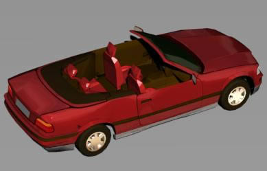 Automovil bmw325 3d, en Automóviles en 3d – Medios de transporte