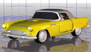 Automovil clásico 3d, en Automóviles en 3d – Medios de transporte
