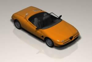 imagen Automovil descapotable 3d, en Automóviles en 3d - Medios de transporte