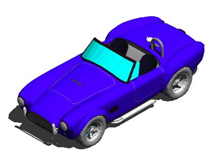Planos de Automovil descapotable 3d, en Automóviles en 3d – Medios de transporte