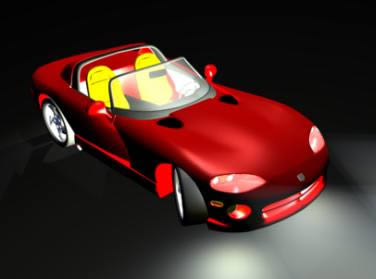 Automovil dodge viper 3d, en Automóviles en 3d – Medios de transporte