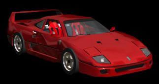 Automovil en 3d modelo ferrari f40 con materiales asignados, en Automóviles en 3d – Medios de transporte