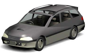 Automovil familiar 3d, en Automóviles en 3d – Medios de transporte