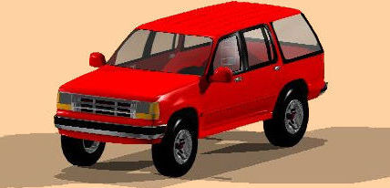 Planos de Automovil ford explorer 3d c, en Automóviles en 3d – Medios de transporte