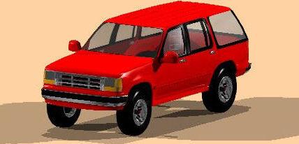 Automovil ford explorer 3d, en Automóviles en 3d – Medios de transporte