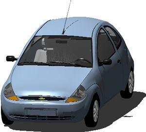 Planos de Automovil ford ka serie limitada 3d con materiales aplicados, en Automóviles en 3d – Medios de transporte