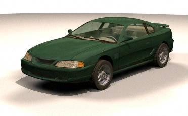 Automovil ford mustang 3d, en Automóviles en 3d – Medios de transporte